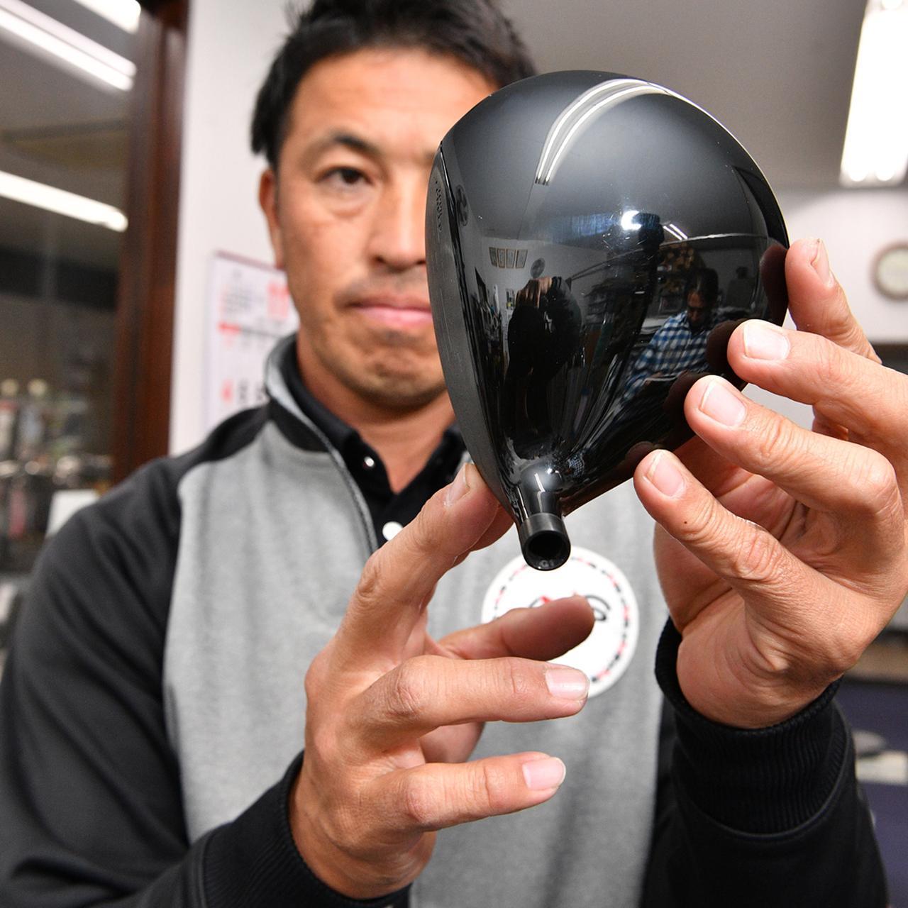 画像: 球をつかまえやすいフックフェース気味のヘッドがいい