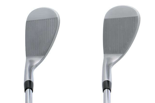 画像: 通常の2倍の時間をかけた鏡面ミーリングフェースで高いスピン性能を誇る。52度(左)、58度(右)
