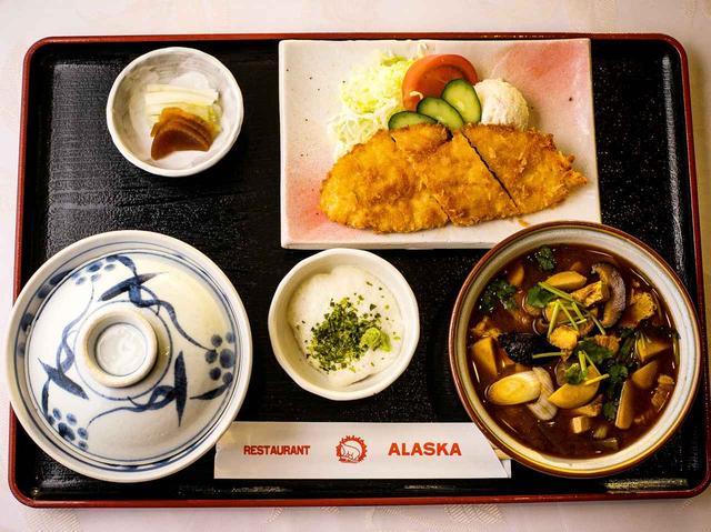 画像: 豚汁定食 1080円 (豚汁・ささみフライ・山かけ・ご飯・香の物)