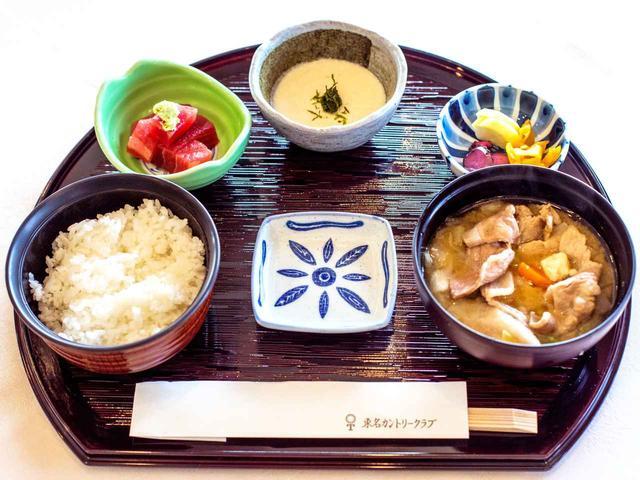 画像: 豚汁定食 1188円 (豚汁・マグロの山かけ・ご飯・香の物)
