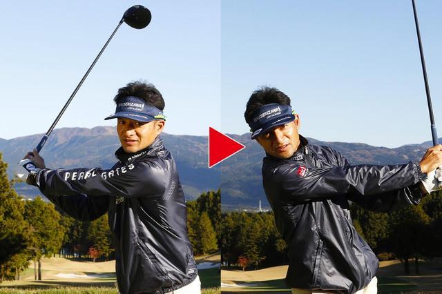 画像2: 【ヒール下打点・トップ】軸が右に傾くスウィングを正す