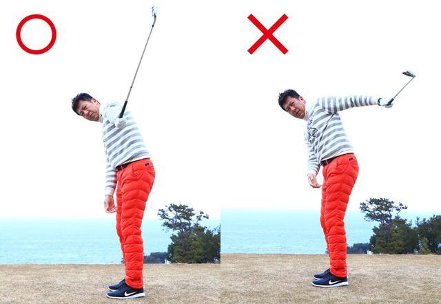 画像: 本来の通過点インパクトが取り戻せる。左ひじは引かないよう注意