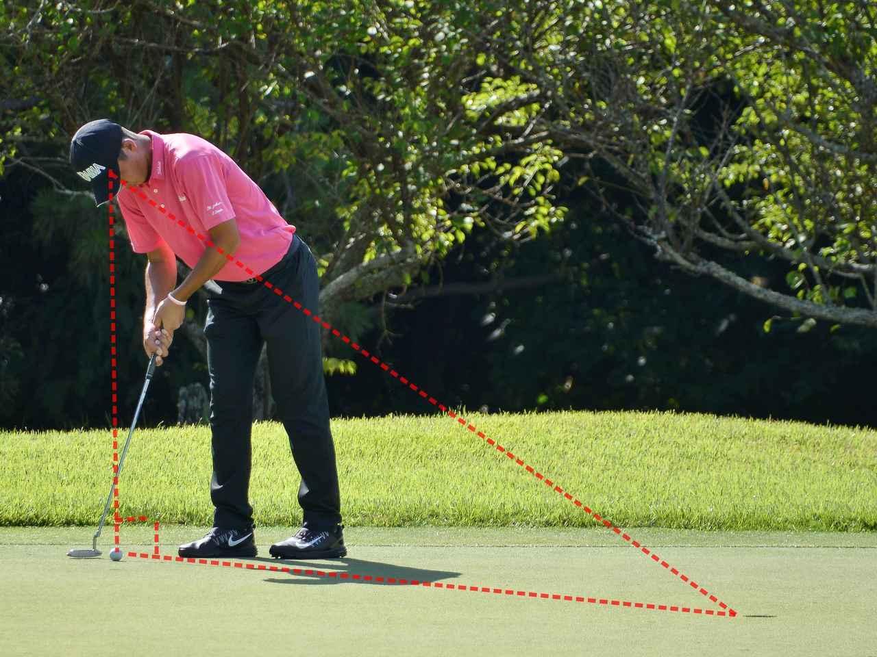 画像: 「目とボールとカップを結ぶ、三角形をイメージします」(出利葉くん)