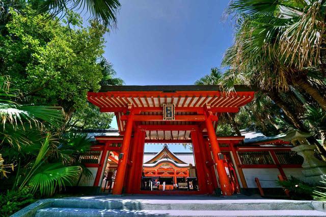 画像: 「青島神社」。県内のパワースポットでゴルフ祈願