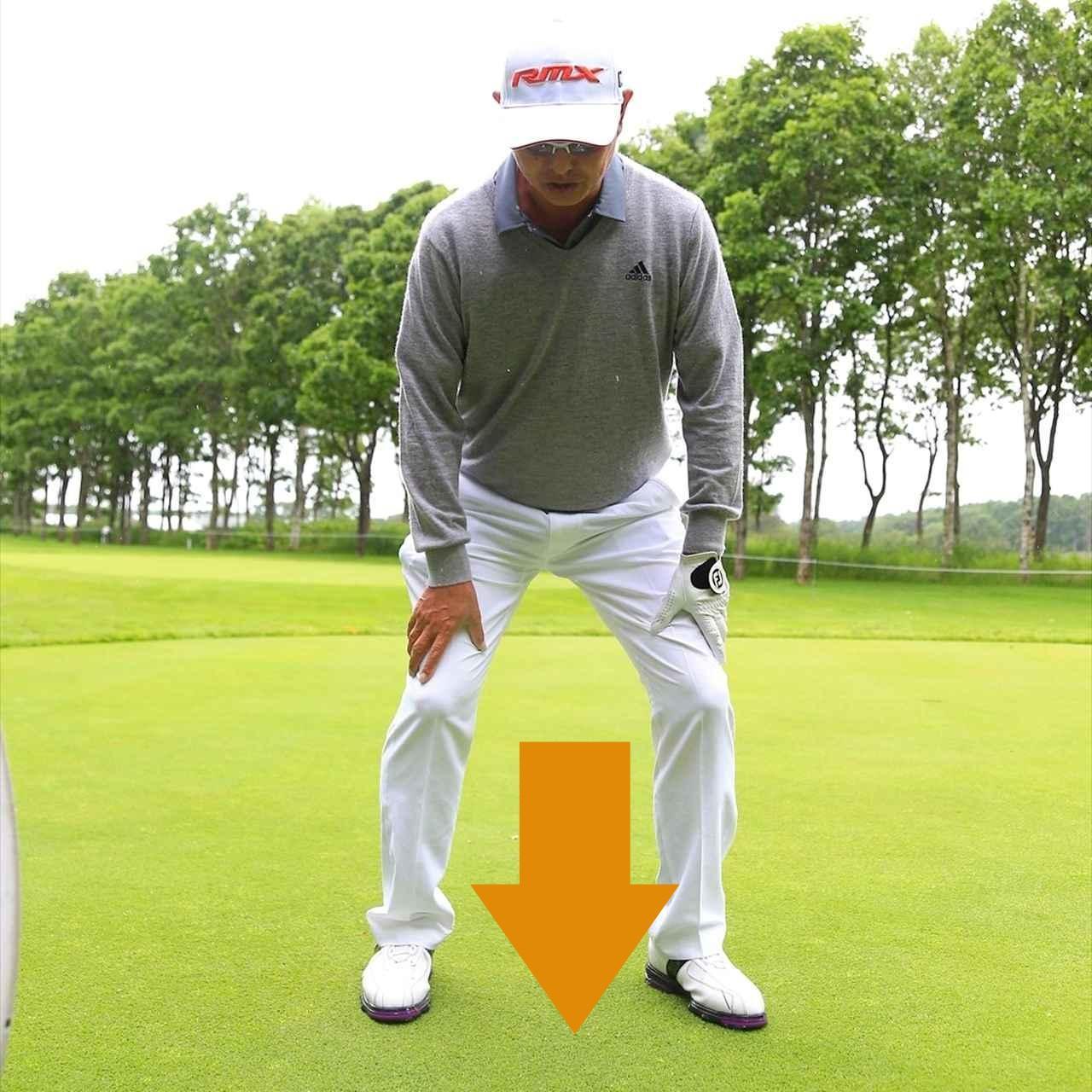 画像: 「重心が高いとトップしてしまう場合がある。重心を下げておけば、しゃくりあげない限りトップしません」