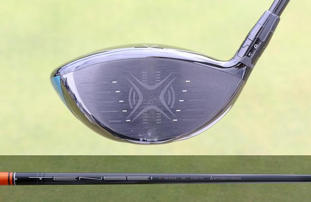 画像: ヘッド内部の2本柱「ジェイルブレイク」で飛距離アップ。先端ガチガチ、しなりも抑えたシャフトを使用