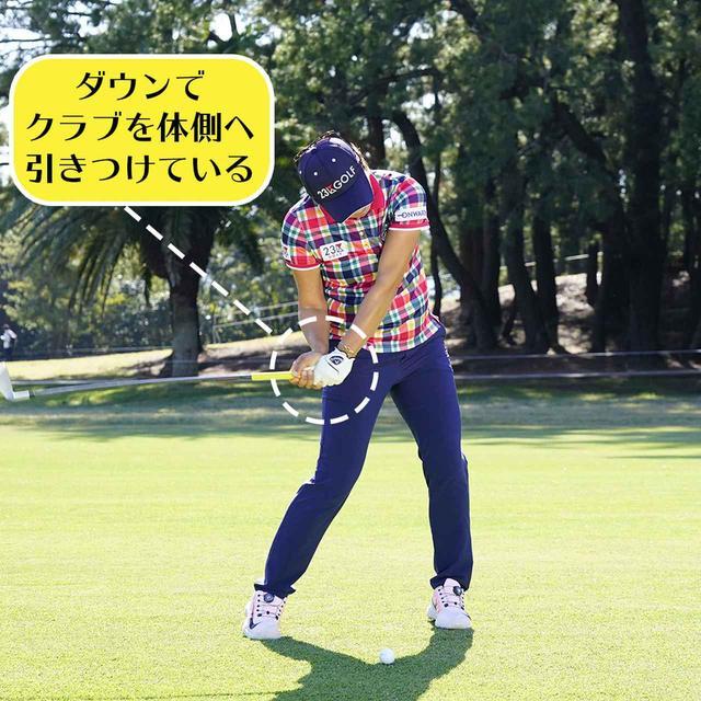 画像5: 【成田美寿々】クラブをタテに振るアイアン名手。安定度バツグンの足づかいは男子プロ並み!