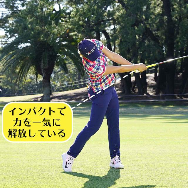 画像7: 【成田美寿々】クラブをタテに振るアイアン名手。安定度バツグンの足づかいは男子プロ並み!