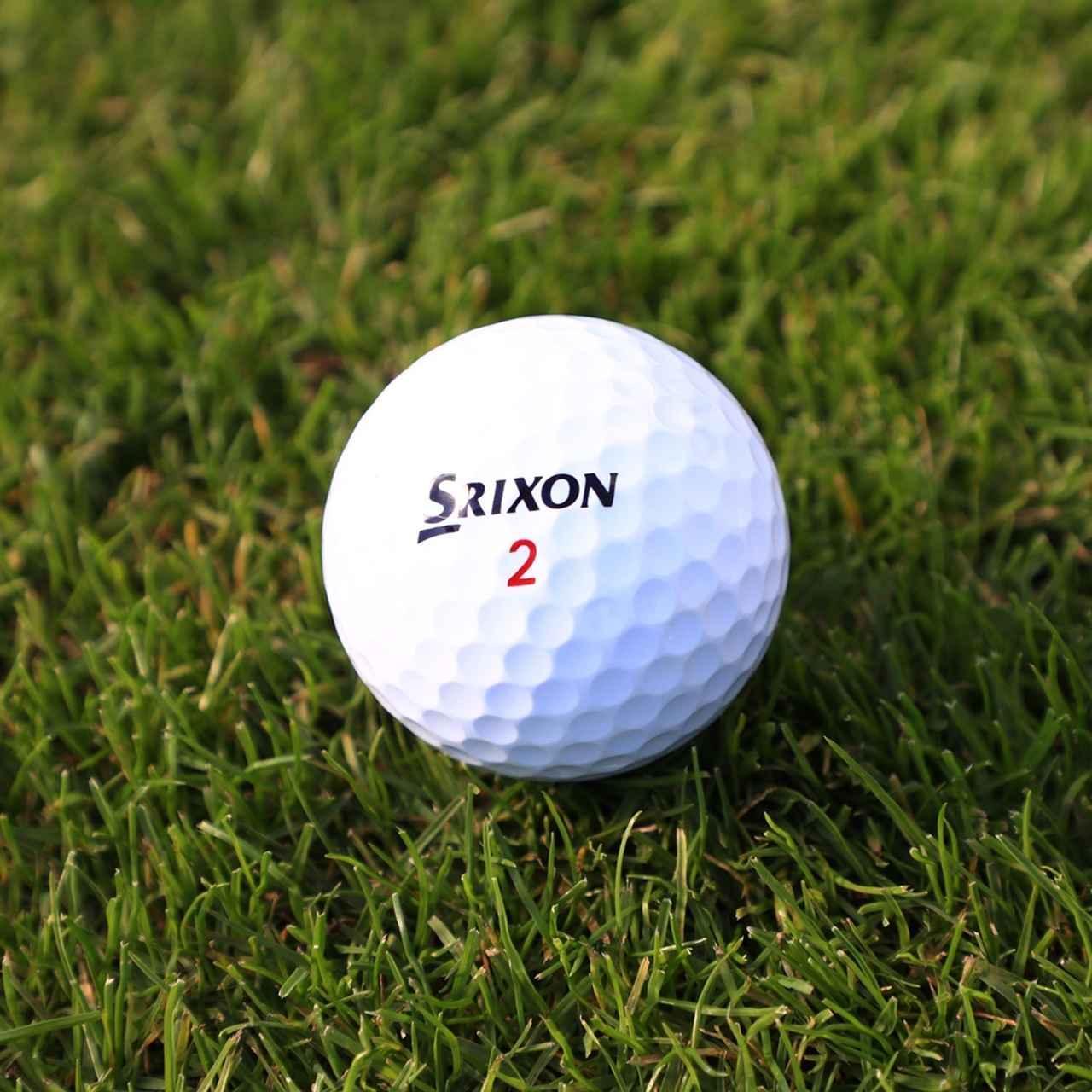 画像: 昨秋発表されたスリクソンのニューボール「スリクソンZスターXV」。新しい素材のコーティングは大堀もお気に入りで、グリーン周りのスピン性能も秀逸。すぐに実戦投入した