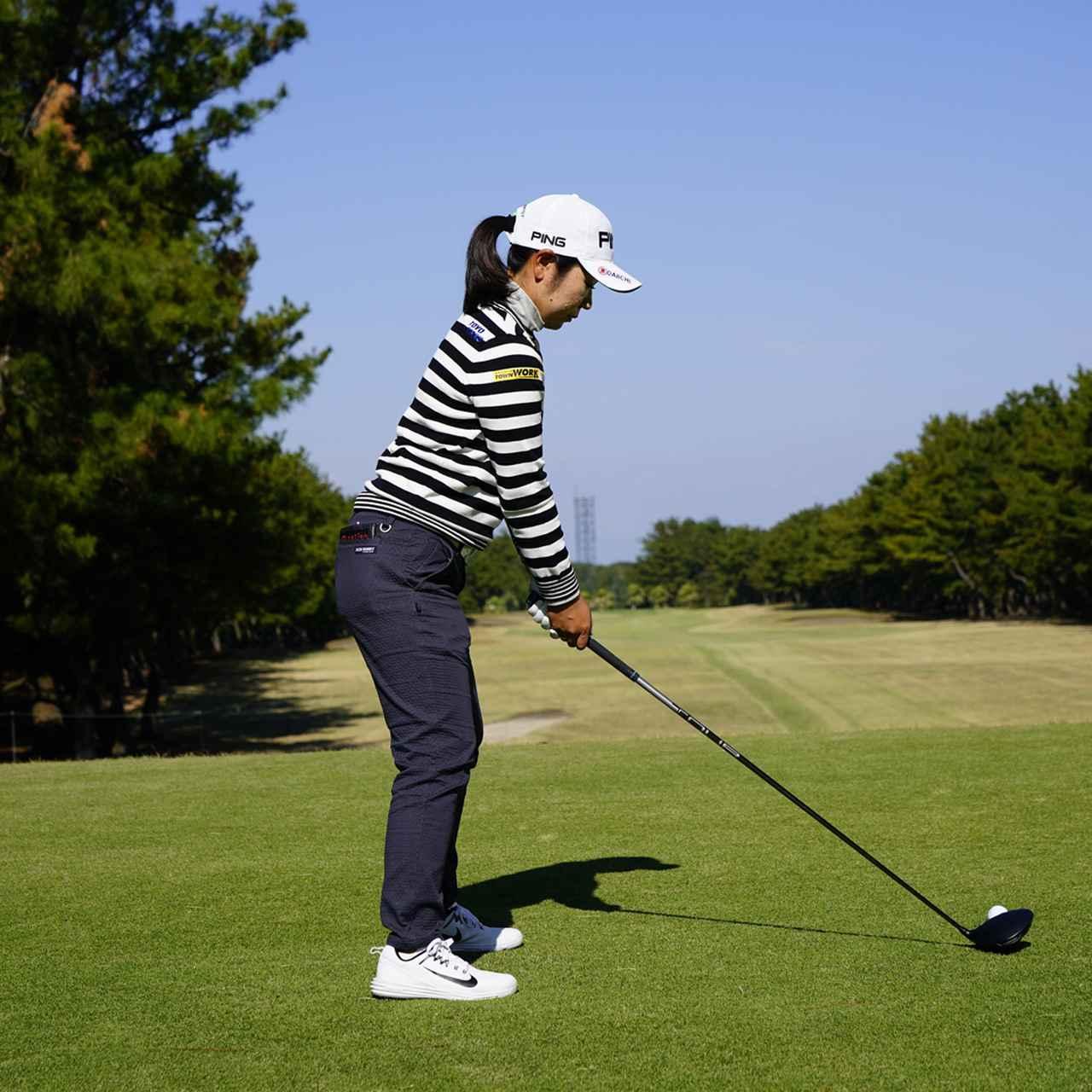 画像1: 【比嘉真美子】女子プロが選んだベストドライバースウィング。右足の踏ん張り、左足の壁、パーフェクトフットワーク!