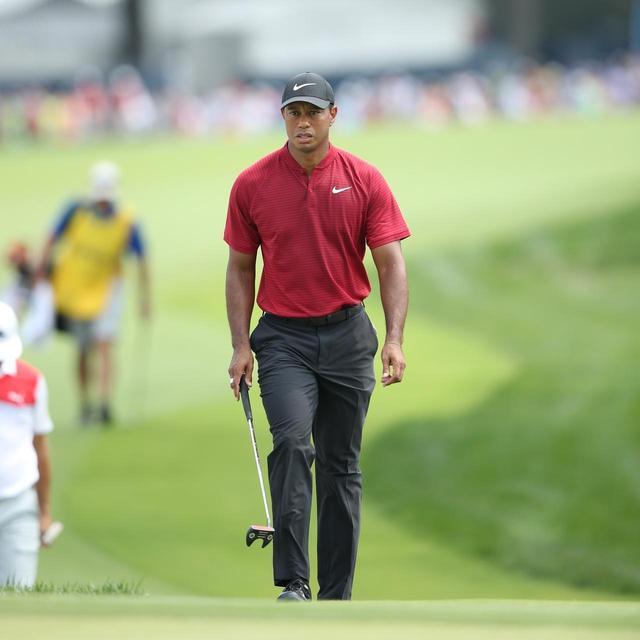 画像: 2018年、完全復活を目指したタイガー・ウッズが、このヘッドモデルに近いプロトタイプのショートスラントネックを使用して一時話題騒然に。写真は2018年全米プロゴルフ選手権最終日