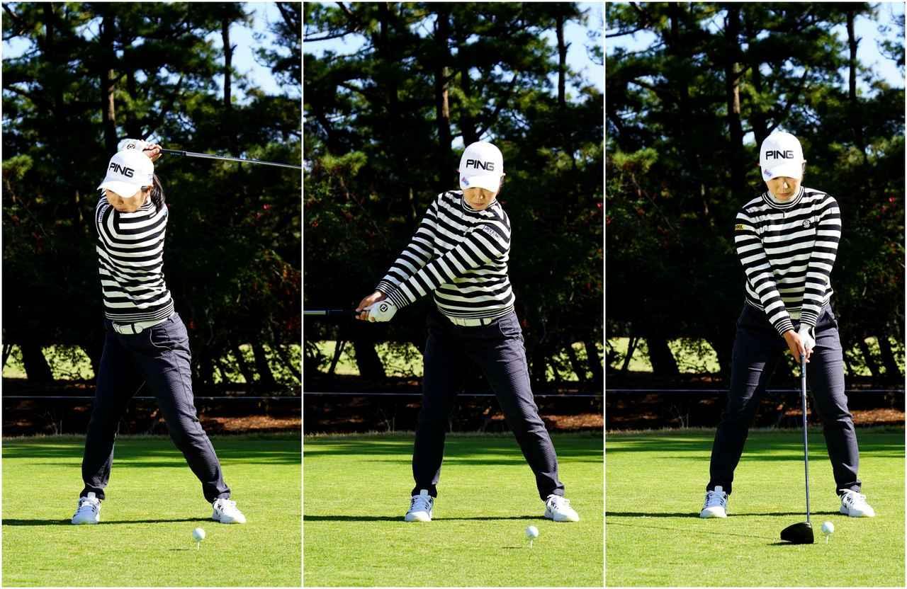 画像: 左ひざの動きが小さい。そのぶんエネルギーがたくさん溜まる