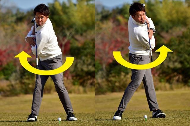 画像: 右に回せばトップ、左に回せばインパクト
