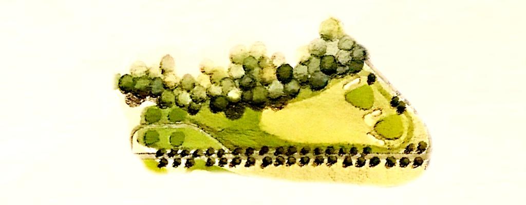 画像: 1番 パー3 グリーン手前の広い花道がおいしい狙い目!