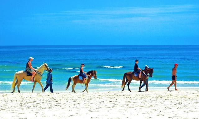 画像: ホアヒンビーチでの乗馬体験