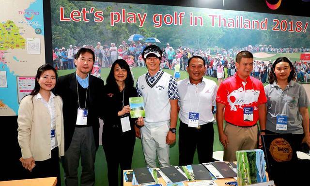 画像: タイ政観主催のゴルフコンペ。2018年のゴルフェアでは特設ブースで告知。石川遼プロも応援に!
