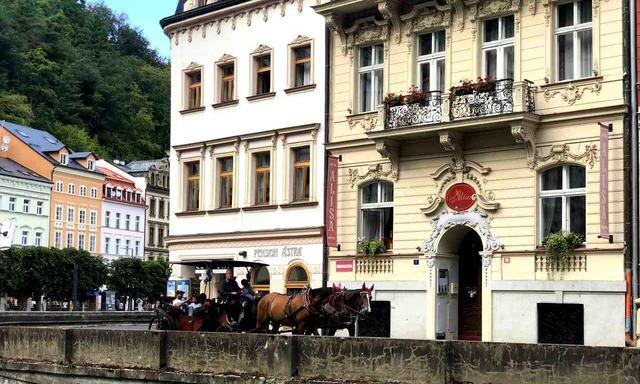 画像: 2頭で引く馬車はチェコの名物