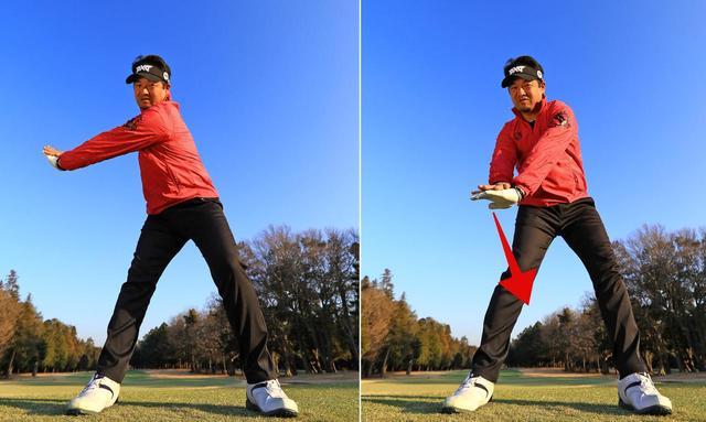 画像: 右手のひらが下を向けば肩は縦に回る。手のひらが横を向けば肩は横に回ってしまう
