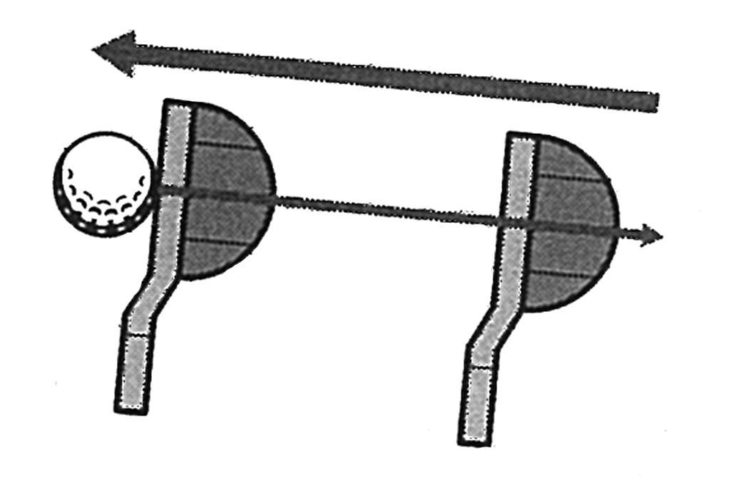 画像: インに引いたヘッド軌道に目線を取られると修正は難しい