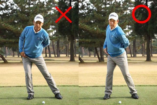 画像: 右の写真のように股関節が斜めに切れ上がるのが正しい動きです