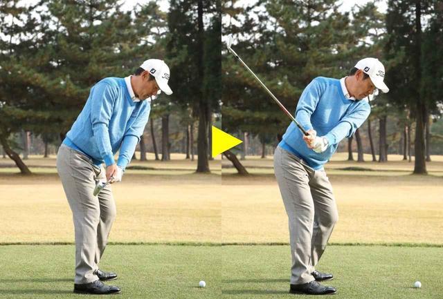 画像: コックのタイミングは肩が回り、手元が腰より上に来てから