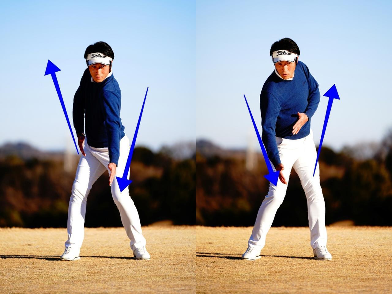 画像: 「左突き、右引き」「右突き、左引き」テンポよく連続で繰り返す。体の向きがすばやく入れ変わりだす
