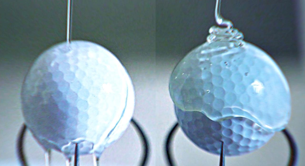 画像: 左が従来のコーティング剤。右がSeRM(セルム)