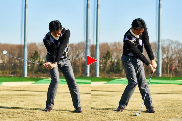画像2: 「左肩をあえて開くことで、体の回転運動が良くなる」by石原