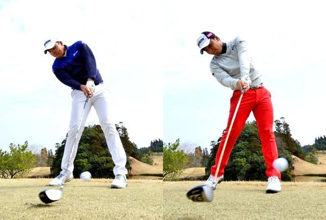 画像: 「球をしっかり打ち抜く、振り抜きが大切です」と出水田プロ(左)