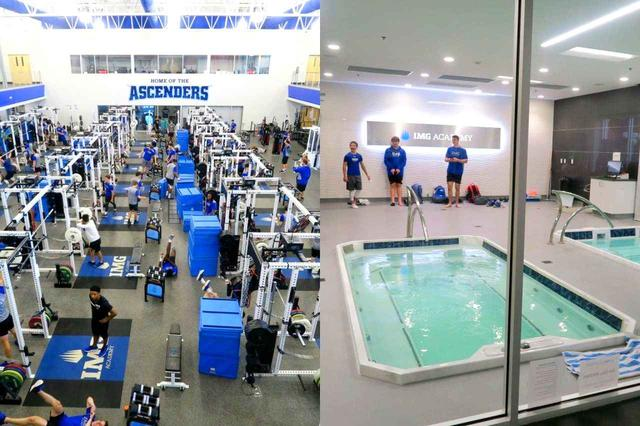 画像: 規格外のトレーニングジム。アイシング用のプールにマッサージルーム