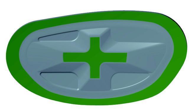 画像: 中心部を厚く、周辺部を薄くし、ルール限界値に反発力を調整
