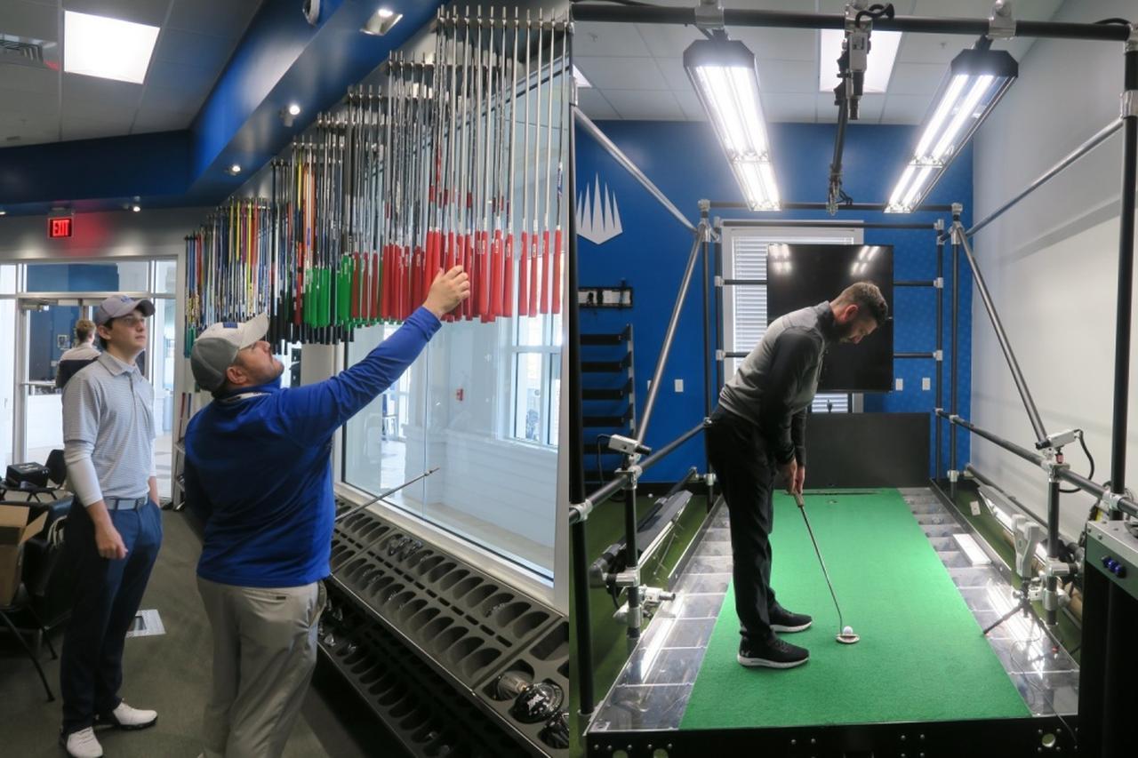 画像: インドアの練習施設にはパット解析システムの「パットラボ」など最新鋭の機器を完備。クラブのフィッティングも可能だ
