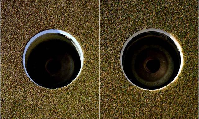 画像: AグリーンがペンA2(左)、Bグリーンがペンクロス(右)
