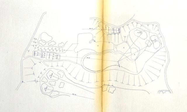 画像: 井上誠一の設計図を製図した書面がコースに残る(写真は16番 P4)