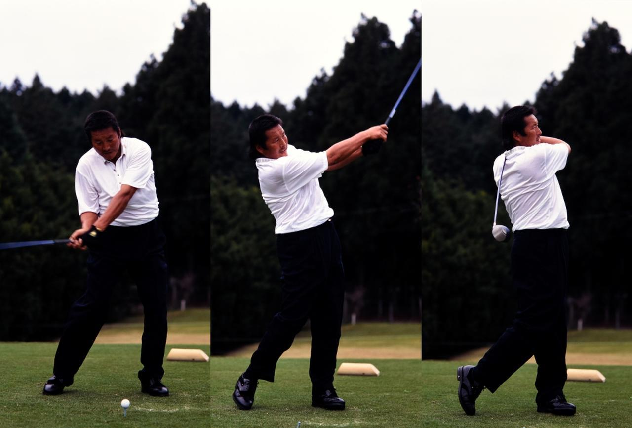 画像: 「どんなに力を入れてもフィニッシュでは力んでいるように見えないところ。これがクラブにストレスをかけず、狙ったところに球を運ぶ秘訣です」