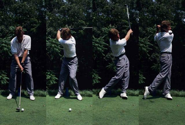 画像: ニック・プライスのスウィング(1994年)脚の動きが大きめのボディターン