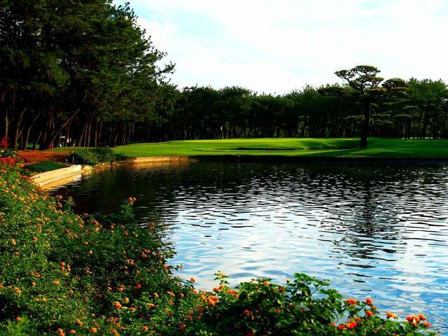 画像: フェニックスCC住吉C2番 165Y P3 大小2つの池が並ぶホール、海風を読んで距離感重視で。トーナメントでは11番
