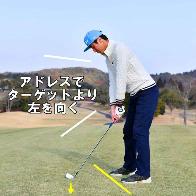 画像1: 強いフェードを打つ「右手のひら」ポイント