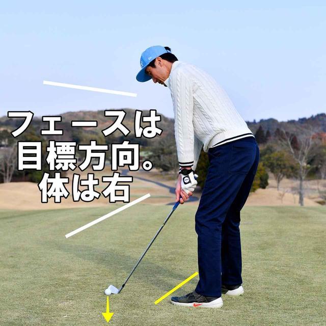 画像1: ドローは、切り返しと同時に右腕を内側へねじる