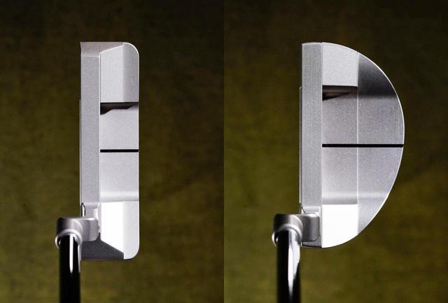 画像: (左)デシャンボーが使用するブレードタイプの「Pro」、(右)マレットタイプ「SHO」