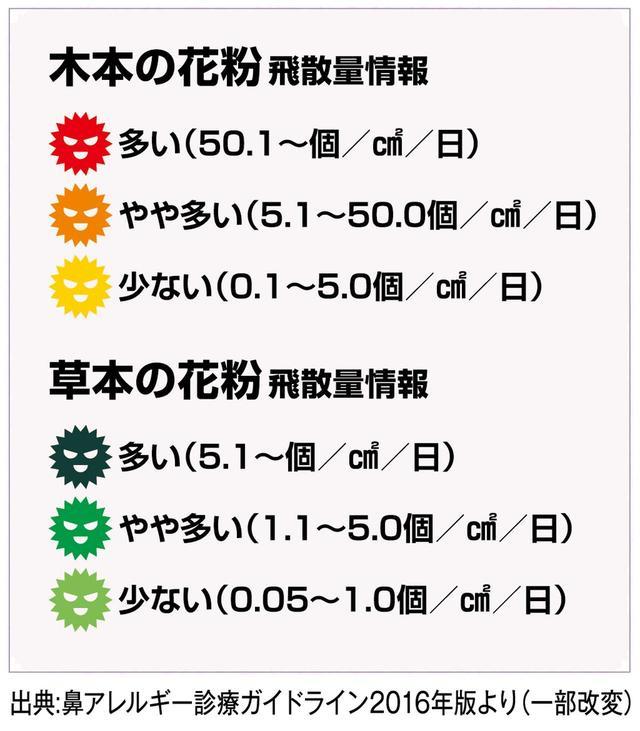 画像: 2019年間花粉カレンダー