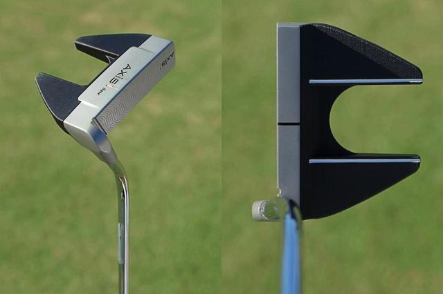画像: シャフト軸線上に重心とSSがあるヘッド。真っすぐ引きやすい。また、グリップはフラットキャップ。長年愛用する理由はアライメントが取りやすいからだという