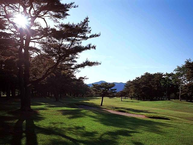 画像: 9番ホール/517㍎/パー5(大谷)やや左ドッグレッグのパー5。1打目は右側の松林に注意