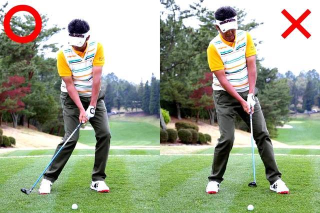 画像: ボールの先のターフをとるつもりで、アイアン感覚に振る