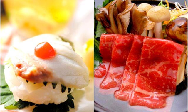 画像: 長泉の山の幸、駿河湾の海鮮、そして和牛。夕飯と朝食をご用意