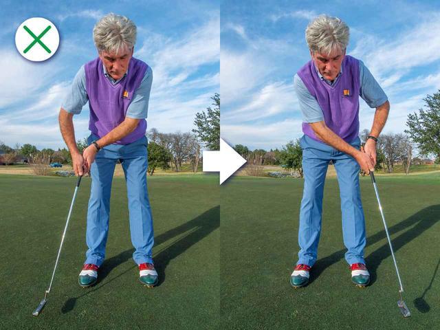 画像: ヘッドを真っすぐ動かす=ショットとは違う特別な動き