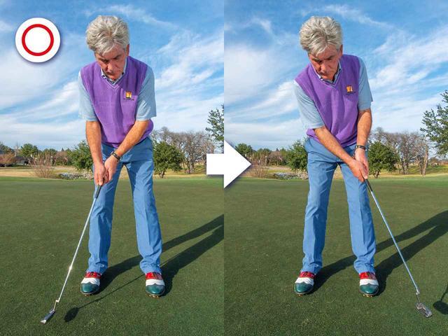 画像: ヘッドを丸く動かす=ショットの延長線にある動き