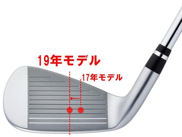 画像: 「真ん中で打ちたい」というゴルファーの本能と重心位置を近づけることで、しっかり芯でとらえられボール初速がアップする