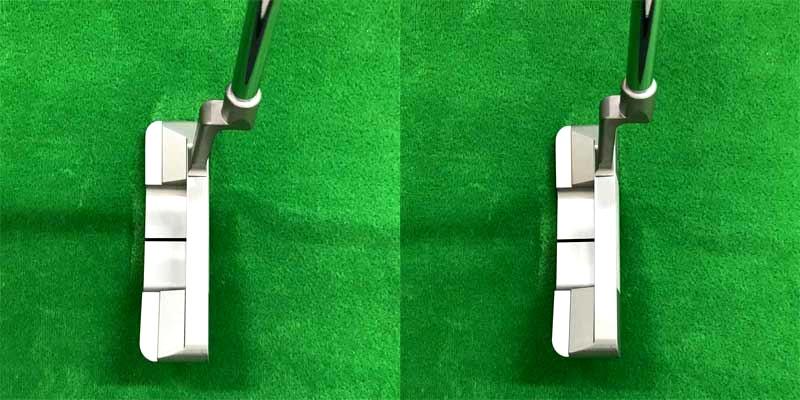 画像: 左腕に密着させるとハンドファーストになるため、あらかじめ7度のロフトが付いている