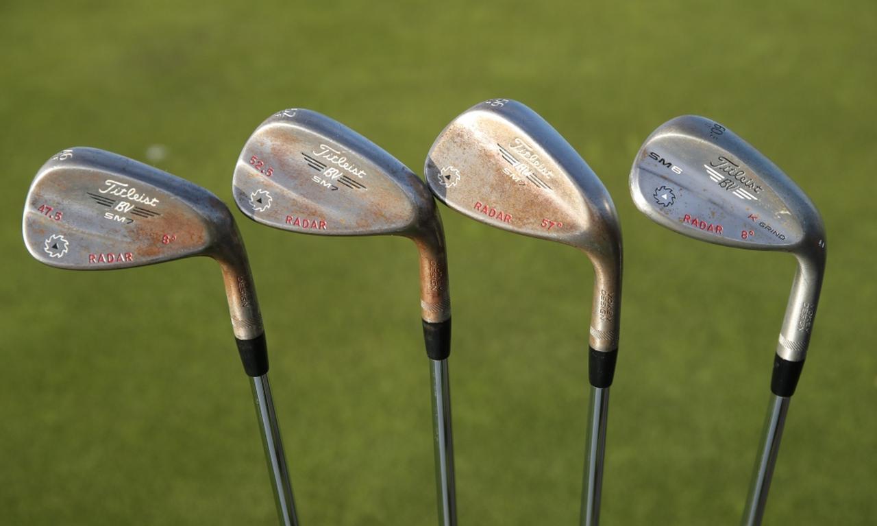 画像: ロフトを0.5度単位で調角。3本のSM7と60度はSM6